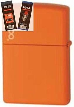 Zippo 231zl orange matte w/ logo Lighter & Z-PLUS INSERT BUN
