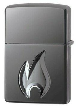 Zippo 29928 Armor 3D Deep Carved Flame Design Black Ice Ligh