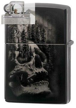Zippo 49141 Skull Mountain Design Black Ice Finish Lighter