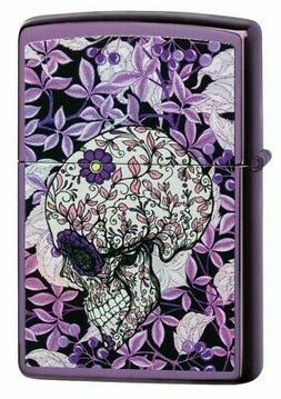 "Zippo 49159,  ""Hidden Skull Design"" High Polish Purple Finis"