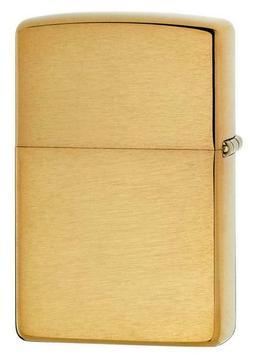 Zippo Brushed Brass Lighter Choice Inserts Fluid Butane Dual