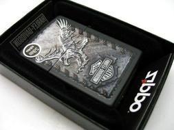 Lot 3 Zippo Harley-Davidson Iron Eagle 28485 Black Matte Lig