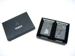 ZIPPO Iron Stone SKELETON LOVE Classic Windproof Lighter 2 P