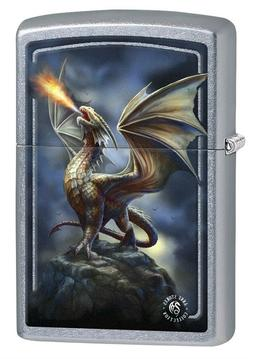 Zippo Lighter: Anne Stokes Dragon on Mountain - Street Chrom