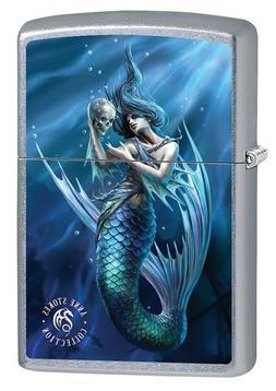 Zippo Lighter: Anne Stokes Mermaid with Skull - Street Chrom