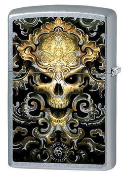 Zippo Lighter: Anne Stokes Skull Design - Street Chrome 7959