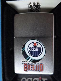 ZIPPO LIGHTER  EDMONTON OILERS PUCK LOGO NHL HOCKEY TEAM FAN