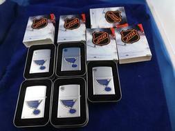 ZIPPO LIGHTER LOT 5 ST LOUIS BLUES NHL HOCKEY SEALED 2005 RE