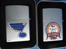 ZIPPO LIGHTER LOT ST LOUIS BLUES 2005 NHL HOCKEY STANLEY CUP