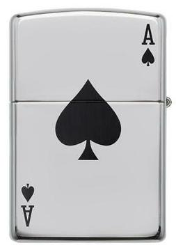 Zippo Lighter Lucky Ace Windproof Refillable High Polish Chr