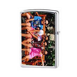 Zippo Lighter - Personalized Custom Photo High Polished Chro