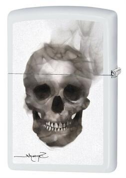Zippo Lighter: Spazuk Skull - White Matte 79422