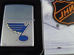 ZIPPO LIGHTER ST LOUIS BLUES NHL HOCKEY SEALED 05 RETIRED FA