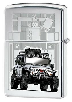 Zippo Lighter: Zippo Jeep - High Polish Chrome 79758