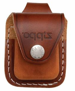 Zippo LPLB, Brown Leather Lighter Pouch with Belt Loop