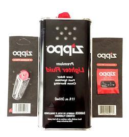 Zippo Value Pack- 12oz Can Lighter Fluid -1 Wick- 6 Flints-