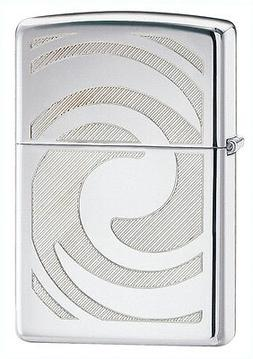 Zippo Windproof 3D Abstract High Polished Chrome Lighter, 28
