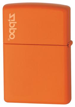 Zippo Windproof Orange Matte Lighter With Logo, 231ZL, New I