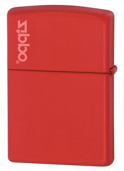 Zippo Windproof Red Matte Lighter With Zippo Logo,  233ZL, N