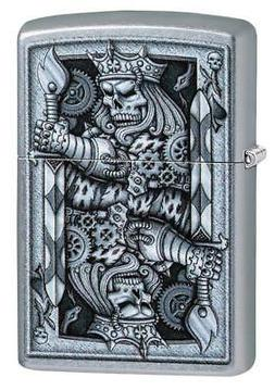 Zippo Windproof Steampunk King Of Spades Lighter, 29877, New